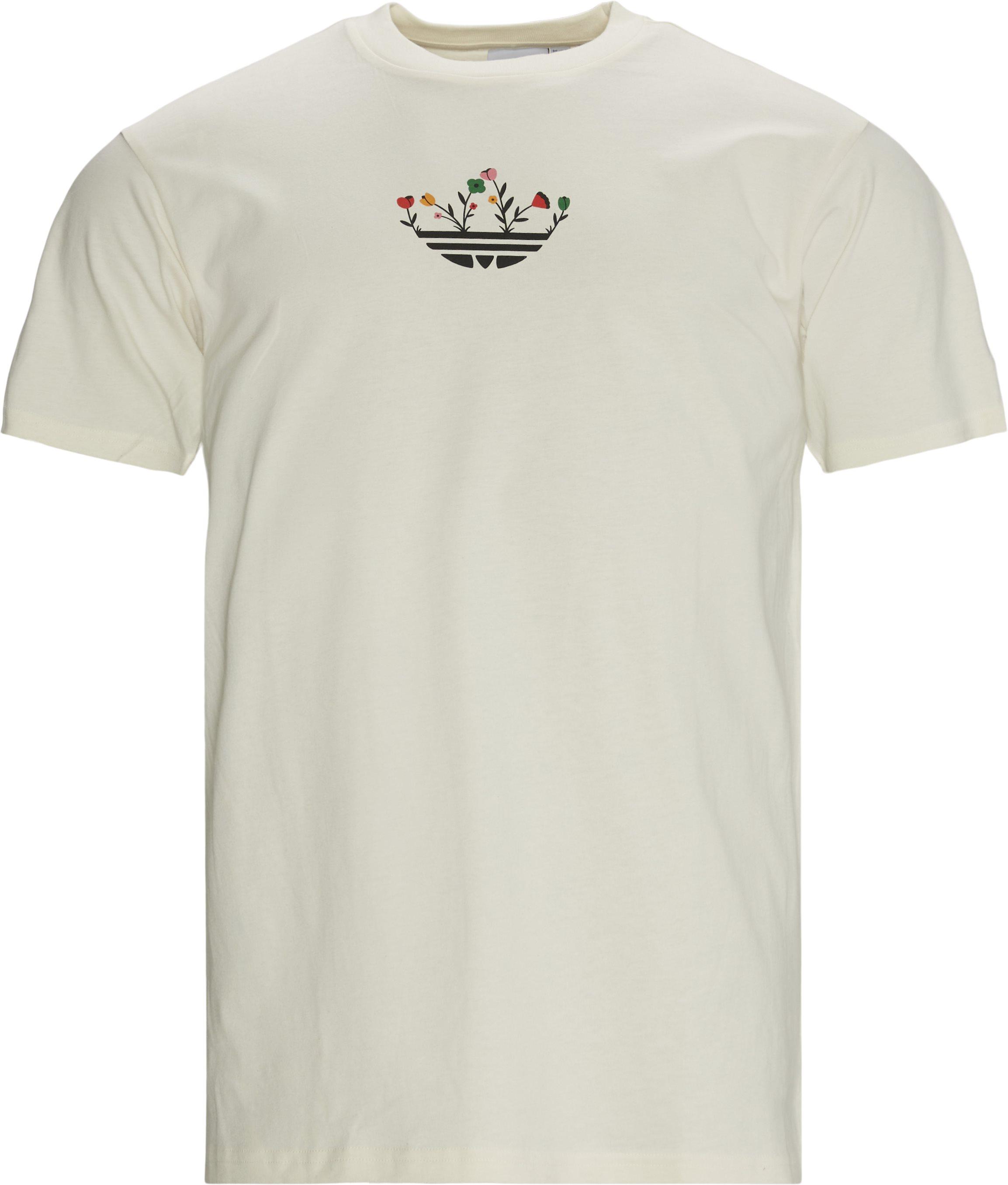 Trefoil Bloom Tee - T-shirts - Regular fit - Hvid